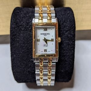 "Raymond Weil ""mother of pearl"" tango women's watch"